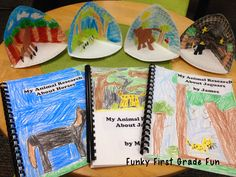 animal Research writing for first grade found at Funky in First Grade Blog.
