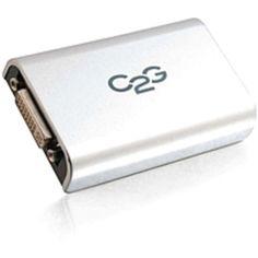 C2G USB to DVI Adapter Up To 2048 x 1152 - 1 x Type B Female Mini USB - 1 x DVI-I (Dual-Link) Female Video - Gray