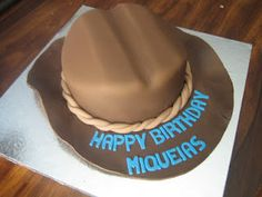 cowboy hat cake...almond cake with almond buttercream by D'vyne Confections