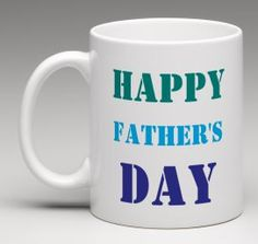 Father's Day gift Happy Father's Day mug blue and by BeesMugShop #etsy #fathersday #gifts