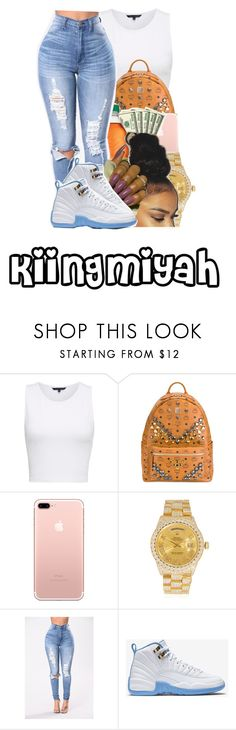 """"" by kiingmiyah ❤ liked on Polyvore featuring French Connection, MCM, Rolex and NIKE"