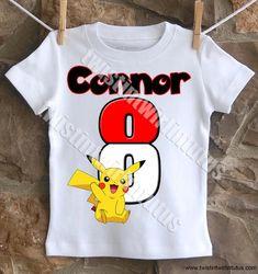 Pokemon Birthday shirt | Pokemon Birthday Shirt | Pokemon Birthday Party Ideas | Pokemon Party Ideas | Birthday Party Ideas for Boys | Twistin Twirlin Tutus #pokemonbirthday