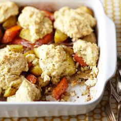 Herbed Root Vegetable Cobbler Herbed Parmesan dumplings sit atop a colorful medley of hearty vegetables in this original casserole recipe. ...