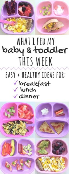 These easy, healthy meal ideas are perfect for babies and toddlers. Inside, get a week's worth of easy toddler meal ideas for breakast, lunch, and dinner! Healthy Toddler Lunches, Healthy Toddler Meals, Toddler Snacks, Healthy Breakfast Recipes, Kids Meals, Toddler Dinners, Healthy Food For Toddlers, Dinner Ideas For Toddlers, Dinners For Kids