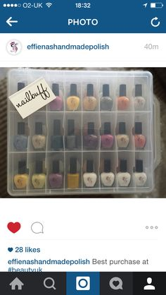 Lovely to meet an indie nail polish manufacturer who bought our nail polish storage box - you can buy yours at www.nail-buff.com