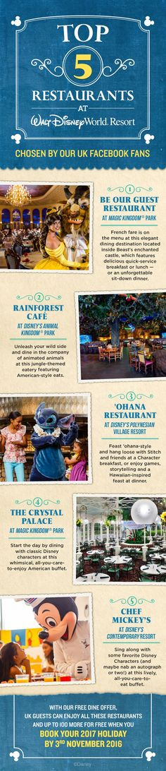 From Be Our Guest Restaurant at Magic Kingdom Park to Chef Mickey's at Disney's… Disney World 2017, Disney World Food, Disney World Florida, Walt Disney World Vacations, Disneyland Trip, Disney Trips, Disney Travel, Disney Cruise, Disney Vacation Planning