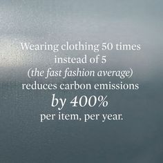 regram Staggering Fact: A perfect reason to swap, recycle and renew your wardrobe! - Thank you /zady/ + /newsweek/ for the fact Vegan Fashion, Fast Fashion, Ethical Fashion, Slow Fashion, Street Fashion, Planet Love, Save The Planet, Minimal Shoes, Sustainable Fashion