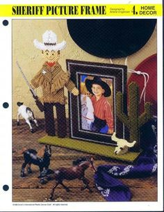 Sheriff picture frame