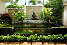 35 Sublime Koi Pond Designs and Water Garden Ideas for Modern Homes is part of Water garden Ideas - Here are 35 sublime koi ponds and water gardens for modern homes These popular water features come in all shapes and sizes and can add such a focal point Fish Pond Gardens, Koi Fish Pond, Small Backyard Gardens, Backyard Garden Design, Modern Backyard, Ponds Backyard, Koi Ponds, Water Gardens, Garden Ponds