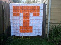 University of Tennessee UT Rag Quilt.. $175.00, via Etsy.