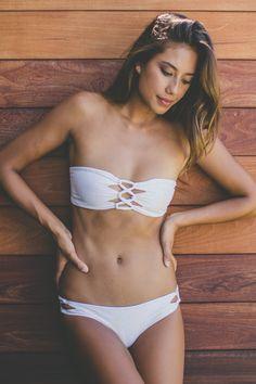 Tori Praver Swimwear 2016 Napili Top in Snake Mist