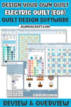 Find out how you can create your own quilts from scratch. Electric Quilt (EQ8) is a quilt design software that allows you to create your own quilts and quilt blocks. Quilting For Beginners, Quilting Tutorials, Quilting Projects, Quilting Designs, Jellyroll Quilts, Easy Quilts, Easy Sewing Projects, Sewing Projects For Beginners, Pattern Blocks