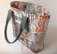 Textile artist Jutta Hellbach - Nadel und Farben - has integrated Gelli printing int Gelli Plate Printing, Printing On Fabric, Gelli Arts, Handmade Handbags, Handmade Purses, Art Bag, Textile Artists, How To Dye Fabric, Fabric Painting