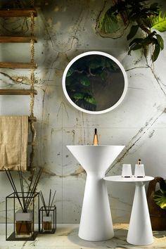 Conical design in the bathroom: Cono by Gessi.