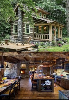 Rustic Kitchen Ideas - You do not have to stay in the nation to appreciate the tranquillity that includes a rustic ambiance. These stunning rustic kitchen areas are located all . Rustic house 30 Most Popular Rustic Kitchen Ideas You'll Want to Copy Log Cabin Living, Log Cabin Homes, Tiny Log Cabins, Cozy Homes, Small Cabins, Rustic Home Design, Cabin Design, Cabin Interior Design, Cabins And Cottages
