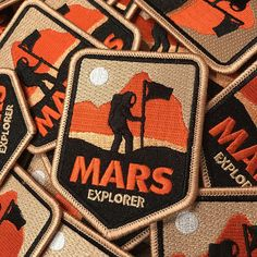 NASA patch / Mars Explorer Iron on patch for backpacks, jackets and more. Cool Patches, Pin And Patches, Iron On Patches, Sew On Patches, Nasa Jacket, Bomber Jacket, Space Patch, Nasa Patch, Travel Patches