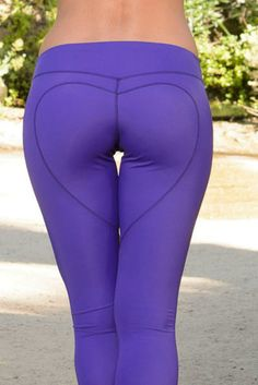 Nina B. Roze Heart Butt Legging in Purple