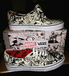 Vans Shoes, Sneakers, Old Skool & Skate Shoes Marvel Shoes, Marvel Clothes, Mens Vans Shoes, Skate Shoes, Marvel Inspired Outfits, Marvel Fashion, Tenis Vans, Super Hero Outfits, Custom Shoes