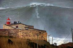 Portugal, Nazarè - Garret McNamara rides a giant at the age of 46.