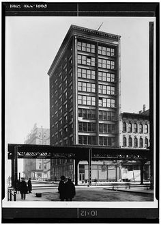 Holabird and Roche, Cable Building, Chicago, Illinois, 1899. Demolished 1960