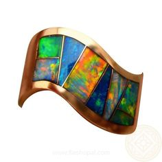 Mens Rectangle Blue Opal Ring Opal rings Green opal and Opals
