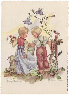 Vintage postcard by Anna Marie Schwarz Torinus | eBay