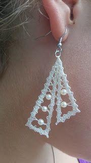 Od MeNe Za TeBe: Poročna pravljica Lace Earrings, Lace Jewelry, Crochet Earrings, Wedding Jewelry, Crochet Gifts, Crochet Lace, Bruges Lace, Bobbin Lacemaking, Bobbin Lace Patterns