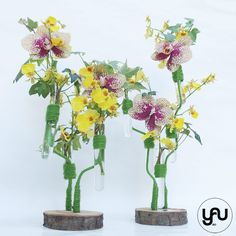 Aranjament floral orhidee galbene - Oncidium si Phalaenopsis | YaU BLOG