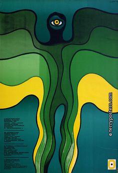 [1976 / polish film] JAN LENICA (1928-2001)  Contexto: Años 60 ÉPOCA DORADA de la escuela del cartel polaco. >>Tendencia hacia la METAFÍSICA y el SURREALISMO.   Su estilo:  _1º COLLAGE surrealista. _2º REINTERPRETACIÓN DEL ART NUVEOU. _LÍNEAS DE CONTORNO estilizadas y fluidas, dividiendo en zonas coloreadas. _Figuras ORGÁNICAS / SINUOSO _Amplia paleta CROMÁTICA