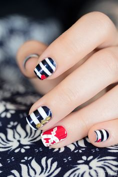Easy Nail Art, Cool Nail Art, Pretty Nail Designs, Nail Art Designs, How To Do Nails, My Nails, Patriotic Nails, Caviar Nails, Feather Nails