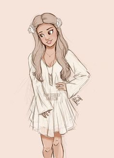 I couldn't be bothered to finish it so… Selsel wearing that cute white dress at the Unicef concert<3
