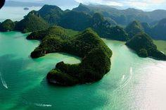 Pregnant Maiden Lake in Langkawi, Malaysia.