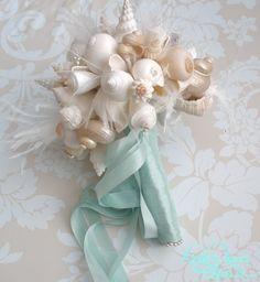 """""""Shell"""" beach wedding bouquet"""