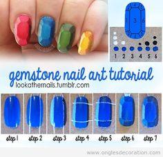 Comment transformer tes ongles en des gemmes, Nail Art effet 3D | Décoration d'Ongles | Tout sur le Nail Art, la decóration dóngles et kes dessin sur ongles