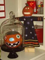 pumpkin under glass