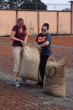 I attempted to lift one of the bags that will be exported out. Each bag weighs about 100-150 pounds. I could not lift the bag without someone else's help but even with my friend we only lifted the bag about five inches off the ground.