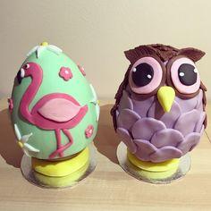 Flamingo and owl eggs!