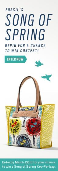 #Spring #Fossil #SongofSpring      Register to Win Here: on.fb.me/Y44D7O