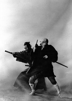 "This is a scene from ""Zatoichi Meets Yojimbo"". Shintaro Katsu and Toshiro Mifune were compelling actors in this milieu."