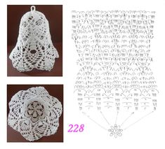 228 Crochet Ball, Easter Crochet, Thread Crochet, Crochet Doilies, Crochet Stitches, Free Crochet, Crochet Christmas Decorations, Crochet Decoration, Crochet Ornaments
