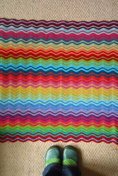 crochet ripple blanket. All I need to do now is learn to crochet...