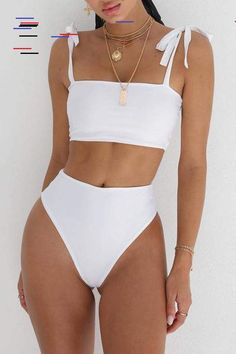 67 Summer Bikinis Ideas Beach Outfits and Swimsuits for Women - The Finest Feed Vacation Swimsuits and Beachwear for women. Womens Affordable bikinis, swim suit cover ups. Summer bikini and beach outfit ideas. Source by outfit swimsuits Sexy Bikini, Bikini Sets, Bikini Swimwear, Women Bikini, White Bikini Set, Sporty Bikini, White Swimsuit, Bandeau Bikini, Swimsuit Tops