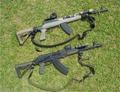 SKS and AK47. Cause if you can't protect it, you don't own it.