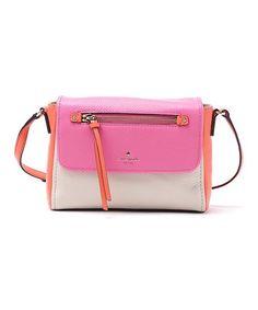 Kate Spade Tulip Pink & Bright Papaya Toddy Leather Crossbody Bag | zulily
