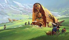 ArtStation - Harvest Season (in the Valley of Bones), Tuomas Korpi Valley Of Bones, Falling From The Sky, Image Painting, Art Society, Harvest Season, Painting Gallery, Environment Concept, Fantasy Landscape, Environmental Art