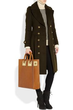 This structured leather tote from Sophie Hulme is calling my name...