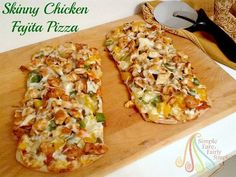 Simple Fare, Fairly Simple: Skinny Chicken Fajita Pizza...and don't forget your $1.00 off coupon from Mama Mary's!