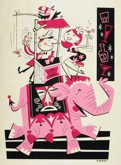Derek Yaniger Retro illustration