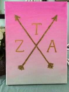 Customizable Sorority Canvas by BrittsCraftShop on Etsy Phi Sigma Sigma, Delta Phi Epsilon, Kappa Kappa Gamma, Alpha Sigma Alpha, Alpha Fraternity, Theta Crafts, Sorority Crafts, Alpha Phi Omega, Sorority Big Little