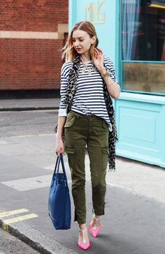My Style | The Breton Top and Cargo Pants - Coco's Tea Party